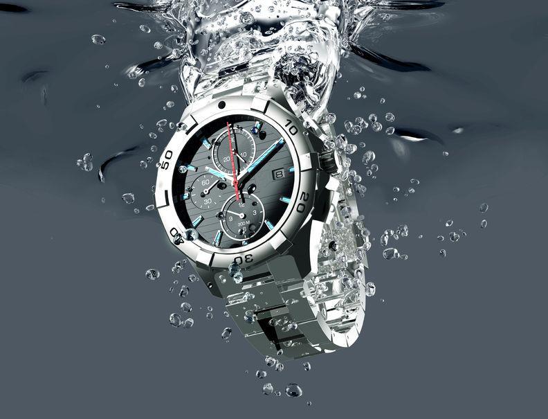 Ne laissez pas votre montre prendre l'eau !